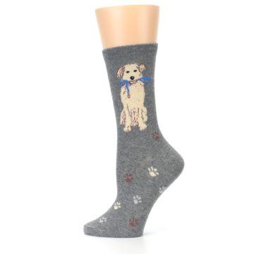 Image of Gray Dog Walk Women's Dress Socks (side-2-12)