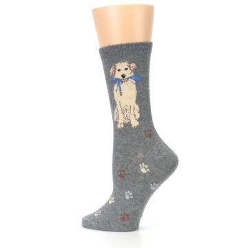 Image of Gray Dog Walk Women's Dress Socks (side-2-13)