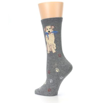 Image of Gray Dog Walk Women's Dress Socks (side-2-back-14)