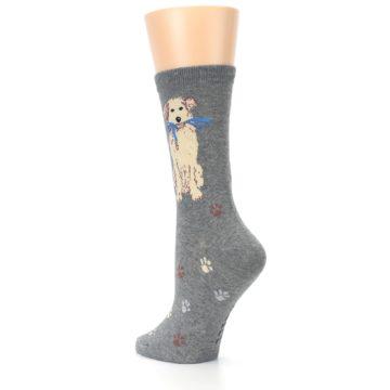 Image of Gray Dog Walk Women's Dress Socks (side-2-back-15)