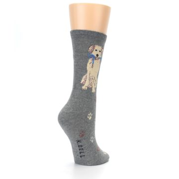 Image of Gray Dog Walk Women's Dress Socks (side-1-back-22)