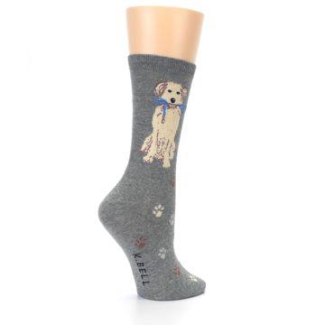 Image of Gray Dog Walk Women's Dress Socks (side-1-23)