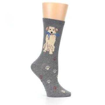 Image of Gray Dog Walk Women's Dress Socks (side-1-25)