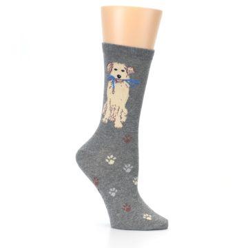 Image of Gray Dog Walk Women's Dress Socks (side-1-26)