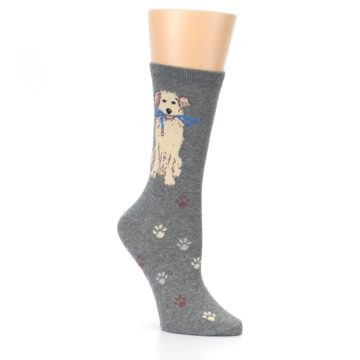 Image of Gray Dog Walk Women's Dress Socks (side-1-27)
