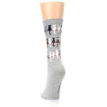 Image of Gray Cat Tails Women's Dress Socks (back-17)