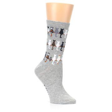 Image of Gray Cat Tails Women's Dress Socks (side-1-26)