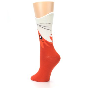 Image of Orange Wide Mouth Fox Women's Dress Socks (side-2-back-15)