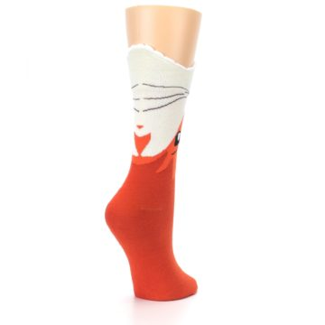 Image of Orange Wide Mouth Fox Women's Dress Socks (side-1-back-22)