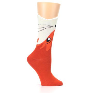 Image of Orange Wide Mouth Fox Women's Dress Socks (side-1-25)