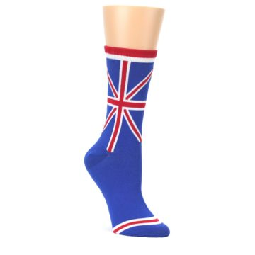 Blue-Red-British-Flag-Womens-Dress-Socks-K-Bell-Socks