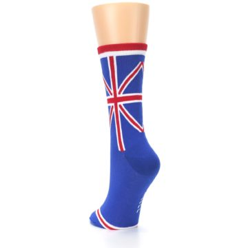 Image of Blue Red British Flag Women's Dress Socks (side-2-back-16)