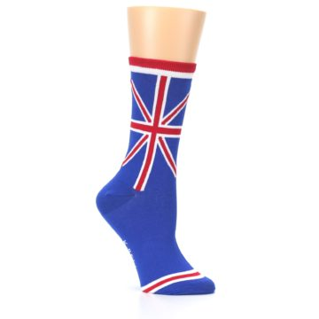 Image of Blue Red British Flag Women's Dress Socks (side-1-26)