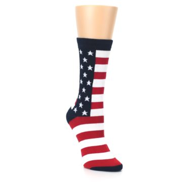 Image of Stars and Stripes US Made Women's Dress Socks (side-1-front-02)