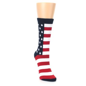 Image of Stars and Stripes US Made Women's Dress Socks (side-1-front-03)