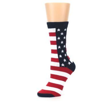 Image of Stars and Stripes US Made Women's Dress Socks (side-2-10)