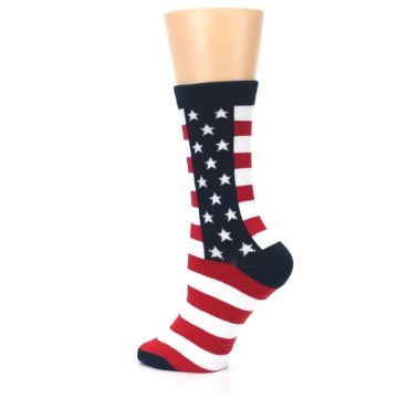 Image of Stars and Stripes US Made Women's Dress Socks (side-2-back-14)