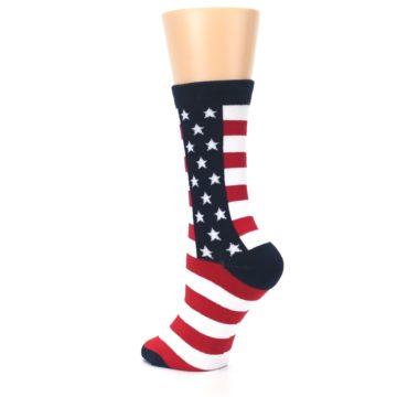 Image of Stars and Stripes US Made Women's Dress Socks (side-2-back-15)