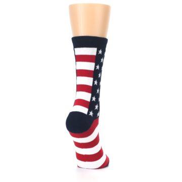 Image of Stars and Stripes US Made Women's Dress Socks (side-1-back-21)