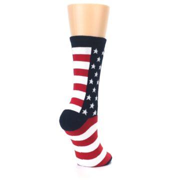 Image of Stars and Stripes US Made Women's Dress Socks (side-1-back-22)
