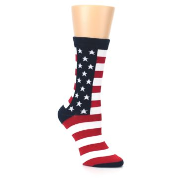Image of Stars and Stripes US Made Women's Dress Socks (side-1-27)