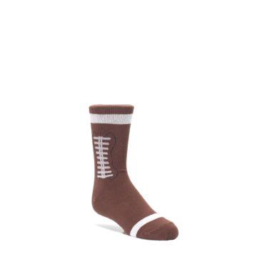 Image of Brown Football Kid's Dress Socks (side-1-front-01)