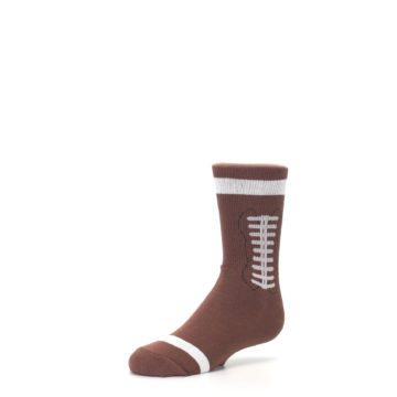 Image of Brown Football Kid's Dress Socks (side-2-09)