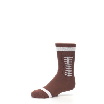 Image of Brown Football Kid's Dress Socks (side-2-10)
