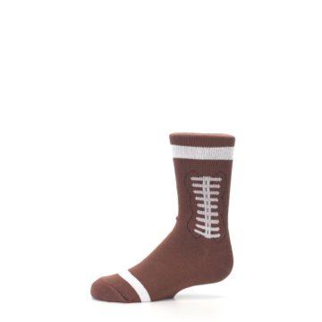 Image of Brown Football Kid's Dress Socks (side-2-11)