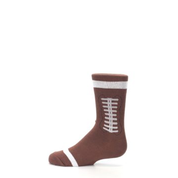 Image of Brown Football Kid's Dress Socks (side-2-12)