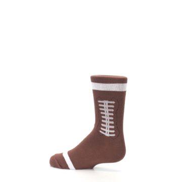 Image of Brown Football Kid's Dress Socks (side-2-13)