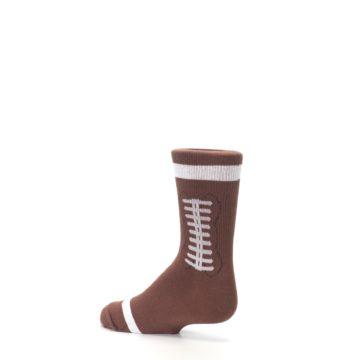 Image of Brown Football Kid's Dress Socks (side-2-back-14)