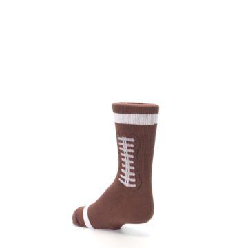 Image of Brown Football Kid's Dress Socks (side-2-back-15)