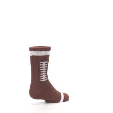 Image of Brown Football Kid's Dress Socks (side-1-back-22)
