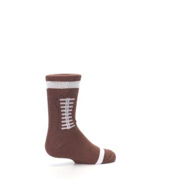 Image of Brown Football Kid's Dress Socks (side-1-23)
