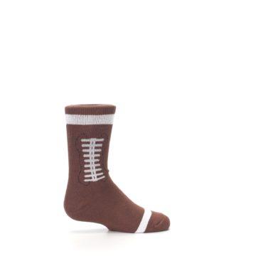 Image of Brown Football Kid's Dress Socks (side-1-24)