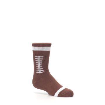 Image of Brown Football Kid's Dress Socks (side-1-26)