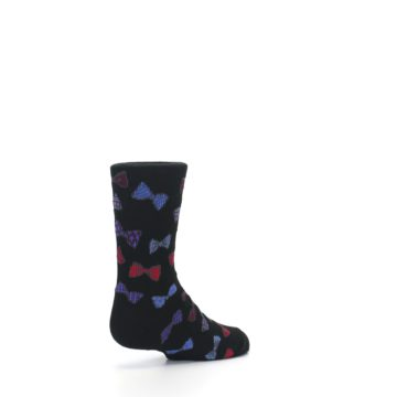 Image of Black Red Bow Ties Kid's Dress Socks (side-1-back-22)