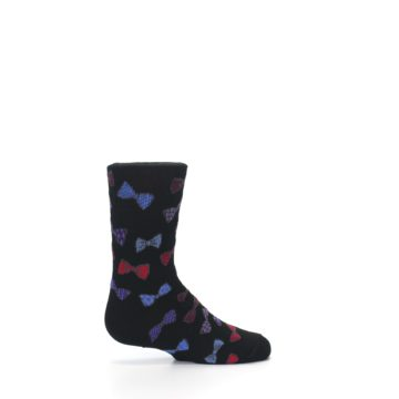 Image of Black Red Bow Ties Kid's Dress Socks (side-1-24)