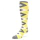 Image of Sunbeam Yellow Gray Argyle Men's Over-the-Calf Dress Socks (side-2-front-08)