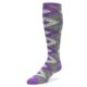 Image of Wisteria Purple Gray Argyle Men's Over-the-Calf Dress Socks (side-2-front-08)
