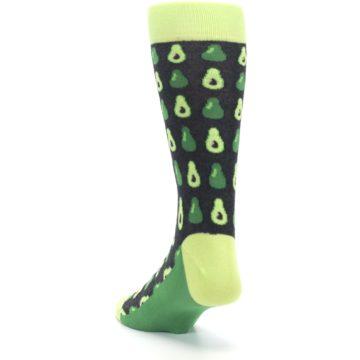 Image of Green Gray Avocados Men's Dress Socks (side-2-back-16)