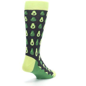 Image of Green Gray Avocados Men's Dress Socks (side-1-back-21)