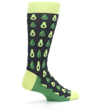 Image of Green Gray Avocados Men's Dress Socks (side-1-23)