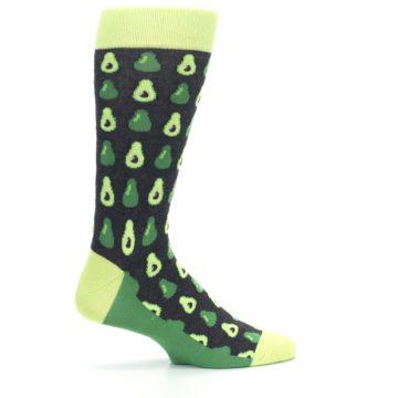 Image of Green Gray Avocados Men's Dress Socks (side-1-24)