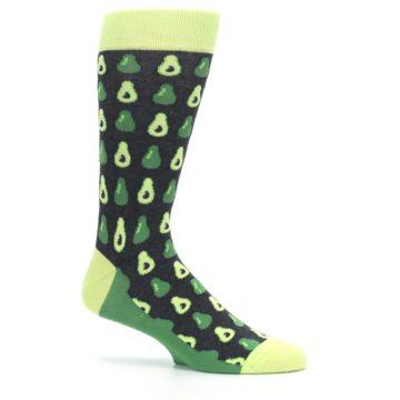 Image of Green Gray Avocados Men's Dress Socks (side-1-25)