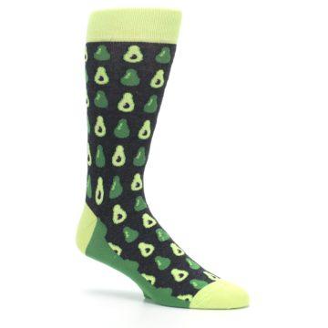 Image of Green Gray Avocados Men's Dress Socks (side-1-26)