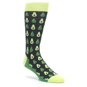 Image of Green Gray Avocados Men's Dress Socks (side-1-27)