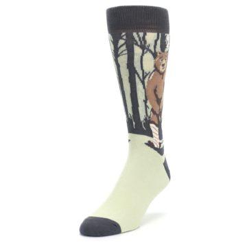 Image of Brown Bear Naked Men's Dress Socks (side-2-front-07)