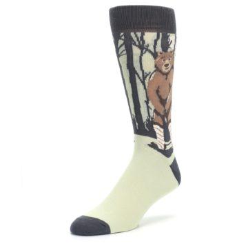Image of Brown Bear Naked Men's Dress Socks (side-2-front-08)